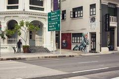 一部分的老遗产大厦城市建筑学 免版税库存照片