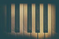 一部分的老钢琴 库存照片