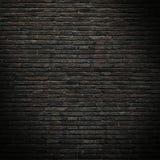一部分的老,黑砖墙 大模型 库存图片
