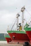 一部分的船在港口,泰国 图库摄影