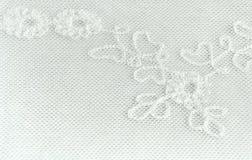 一部分的花卉鞋带背景 免版税库存图片