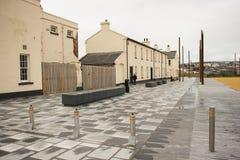 一部分的英国陆军军事设施睡觉处所在老Ebrington营房在伦敦德里在北爱尔兰 免版税库存照片