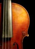 一部分的葡萄酒小提琴 免版税库存照片