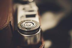 一部分的葡萄酒模式影片照相机关闭 免版税库存图片