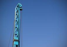 一部分的蓝色起重机 免版税图库摄影