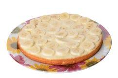 一部分的蛋糕用香蕉 免版税库存图片