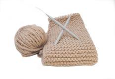 一部分的被编织的毛线衣 库存图片