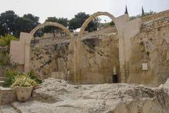 一部分的被破坏的城堡在西班牙 库存图片