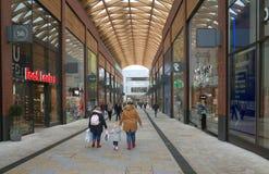 一部分的词典购物中心在布拉克内尔,英国 免版税库存照片
