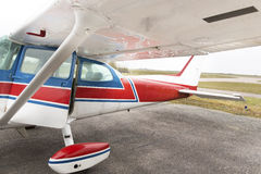 一部分的赛斯纳172飞机 免版税库存图片