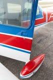 一部分的赛斯纳172飞机 免版税库存照片