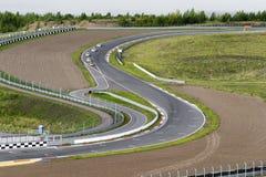 一部分的赛马跑道 图库摄影