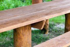 一部分的长木凳 免版税库存照片