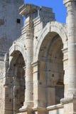 一部分的阿尔勒,法国罗马圆形露天剧场  免版税库存图片
