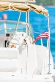 一部分的马达游艇 免版税库存照片