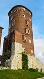 一部分的建筑复合体Wawel (克拉科夫,波兰) 免版税库存照片