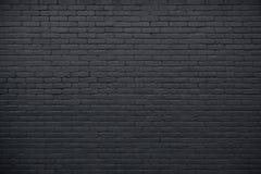 一部分的黑色被绘的砖墙 免版税图库摄影