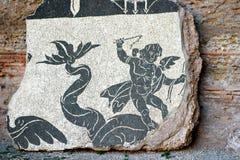 一部分的Caracalla巴恩的装饰在罗马 库存图片