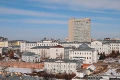 一部分的KFU主要盒 喀山俄国 库存照片