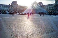 一部分的Lourve博物馆, A中央地标巴黎 免版税库存照片