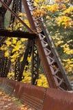 一部分的tumwater峡谷桥梁 免版税库存图片