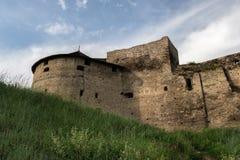一部分的XVI世纪的中世纪石城堡在Kamianets-Podilskyi  库存照片
