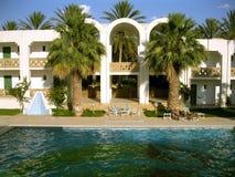 一部分看法的旅馆在沙漠 库存照片