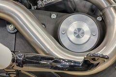 一部分细节的摩托车引擎  库存照片