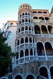 一部美丽的螺旋形楼梯在威尼斯 库存照片