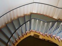 一部螺旋形楼梯的下侧看法 图库摄影