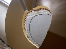 一部螺旋形楼梯的增长视图 库存照片