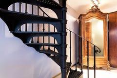 一部螺旋形楼梯的步 免版税库存照片