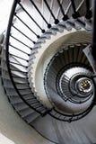 一部螺旋形楼梯的建筑样式 免版税库存图片