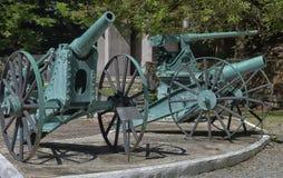 一门老大炮在博物馆 免版税库存照片