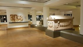 一间屋子在贝鲁特国家博物馆  贝鲁特,黎巴嫩 图库摄影