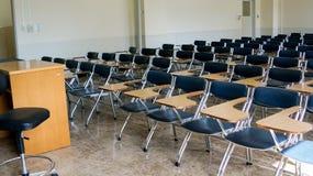 一间空的教室 免版税库存图片