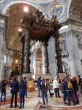 一间罗马教皇的大教堂在罗马 免版税库存照片