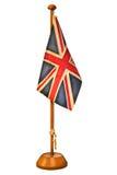 一面小英国旗子的减速火箭的被称呼的图象 免版税库存照片