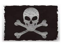 一面黑海盗旗子的传染媒介例证 库存图片