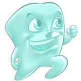 一颗愉快的牙的例证 库存照片