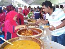 一马来西亚和谐通过家庭招待会庆祝 免版税库存图片