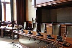一间经典会议室 库存照片