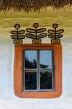 一件典型的乌克兰古董的视窗的详细资料   库存图片