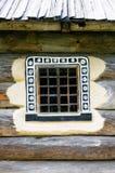 一件典型的乌克兰古董的视窗的详细资料   图库摄影