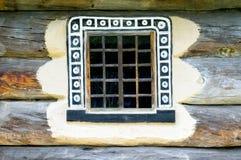 一件典型的乌克兰古董的视窗的详细资料   库存照片