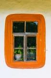 一件典型的乌克兰古董的视窗的详细资料   免版税库存照片