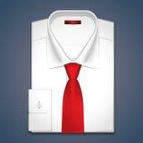 一件经典白色衬衣的传染媒介例证 库存图片