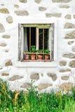 一间农舍的细节在上奥地利 库存照片