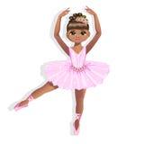 一件发光的礼服的甜矮小的芭蕾舞女演员 图库摄影