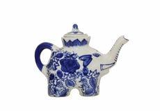 陶瓷大象茶壶 库存照片